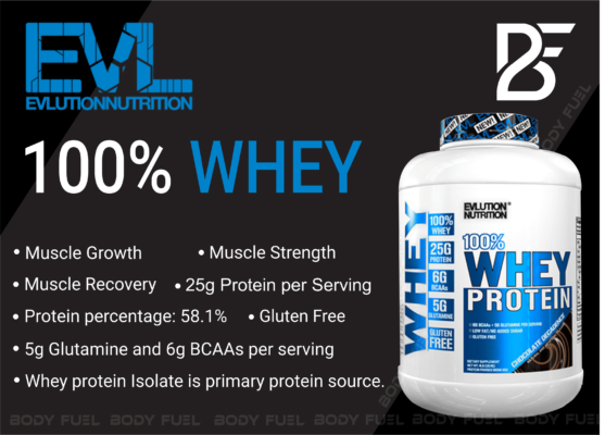 Evlution Nutrition 100% Whey, Whey Protein, Body Fuel