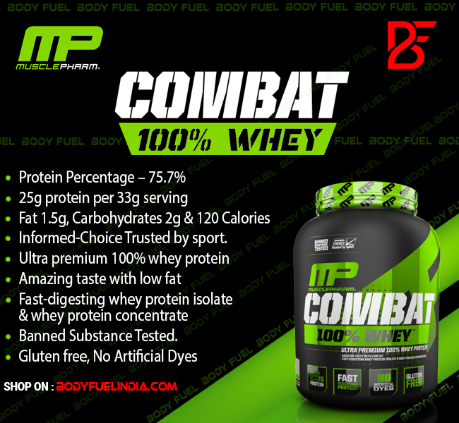 MusclePharm Combat 100% Whey Protein, Whey Protein, Body Fuel, No. 1 Supplement Store