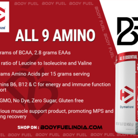 Dymatize All 9 Amino, Ergogenics, Body Fuel India's no.1 Authentic Online Supplement Store