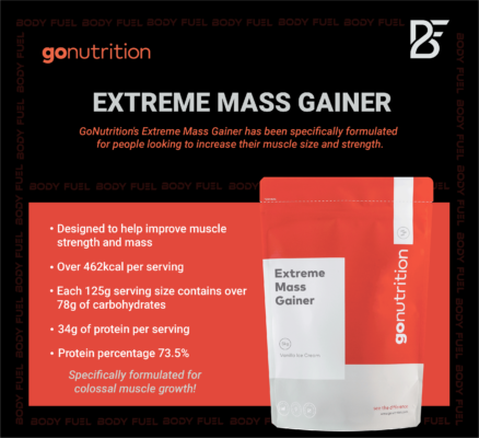 Go Nutrition Extreme Mass Gainer, Gainers, Body Fuel