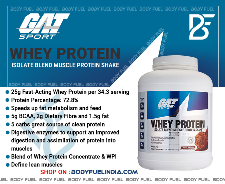 Gat Sport Whey Protein, Whey Protein, Body Fuel India's no.1 Authentic Online Supplement Store.