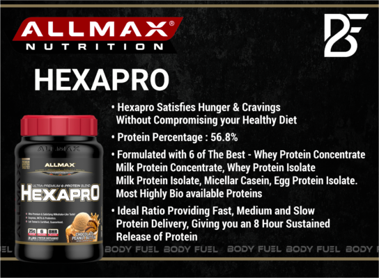 Allmax Hexapro, Casein & Blended Protein, Body Fuel