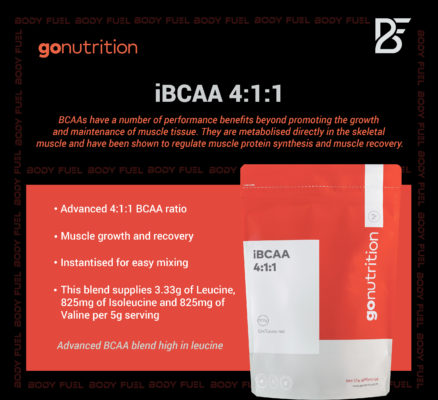 Go Nutrition iBCAA, Ergogenics, Body Fuel