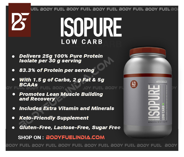 Isopure Low Carb, Whey Protein Isolate, Body Fuel India