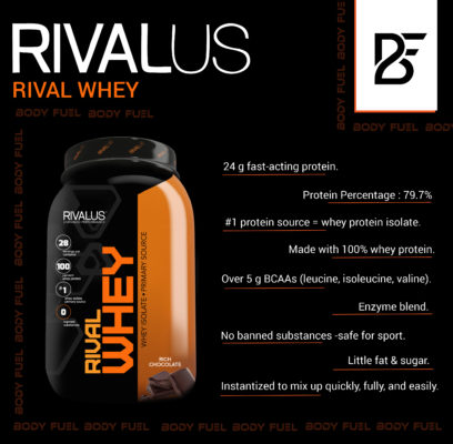 Rival whey protein, Whey Protein, Body Fuel