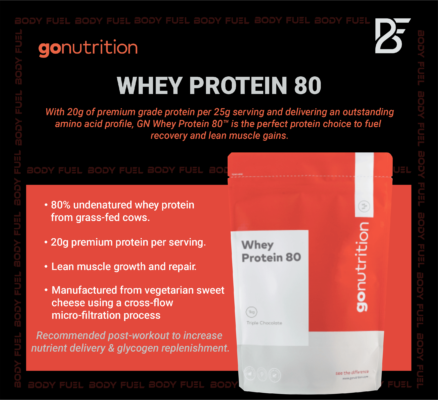 Go Nutrition Whey Protein 80, Whey Protein, Body Fuel