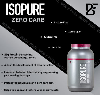 Isopure Zero Carb, Whey Protein Isolate, Body Fuel