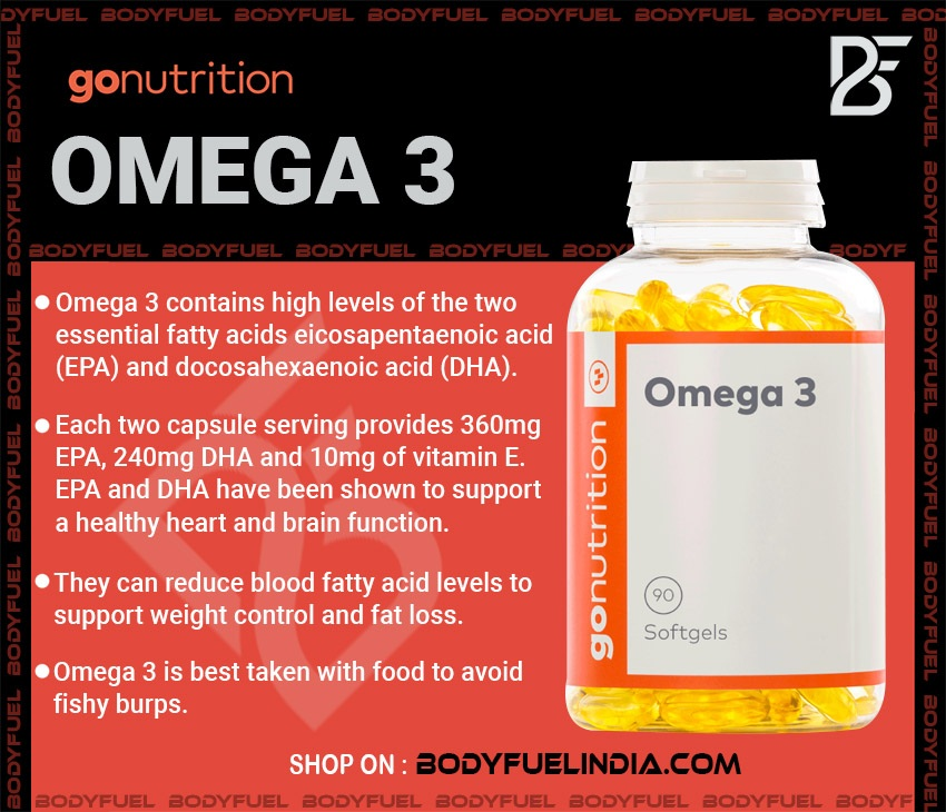 Go Nutrition Omega 3, Vitamins & Supplements, Body Fuel India's no.1 Authentic Online Supplement Store.