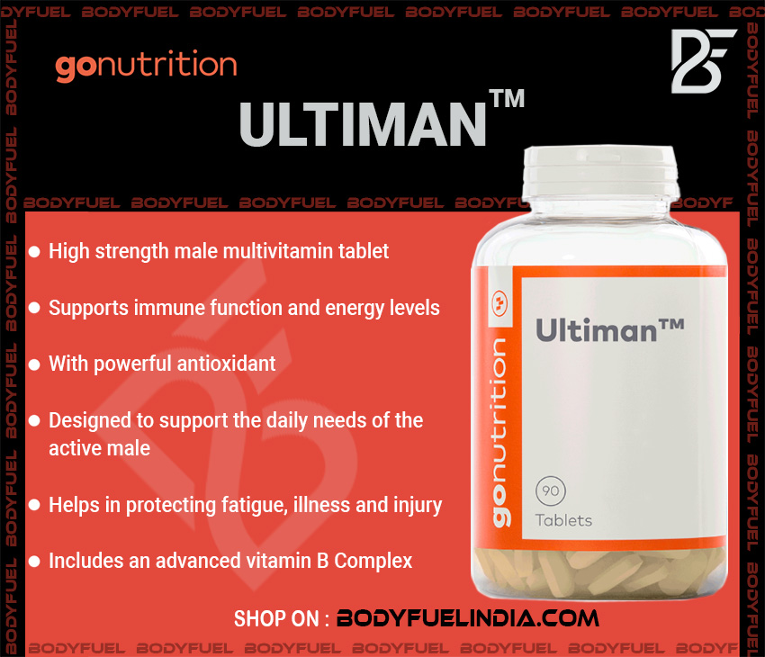 Go Nutrition Ultiman, Vitamins & Supplements, Body Fuel India's no.1 Authentic Online Supplement Store