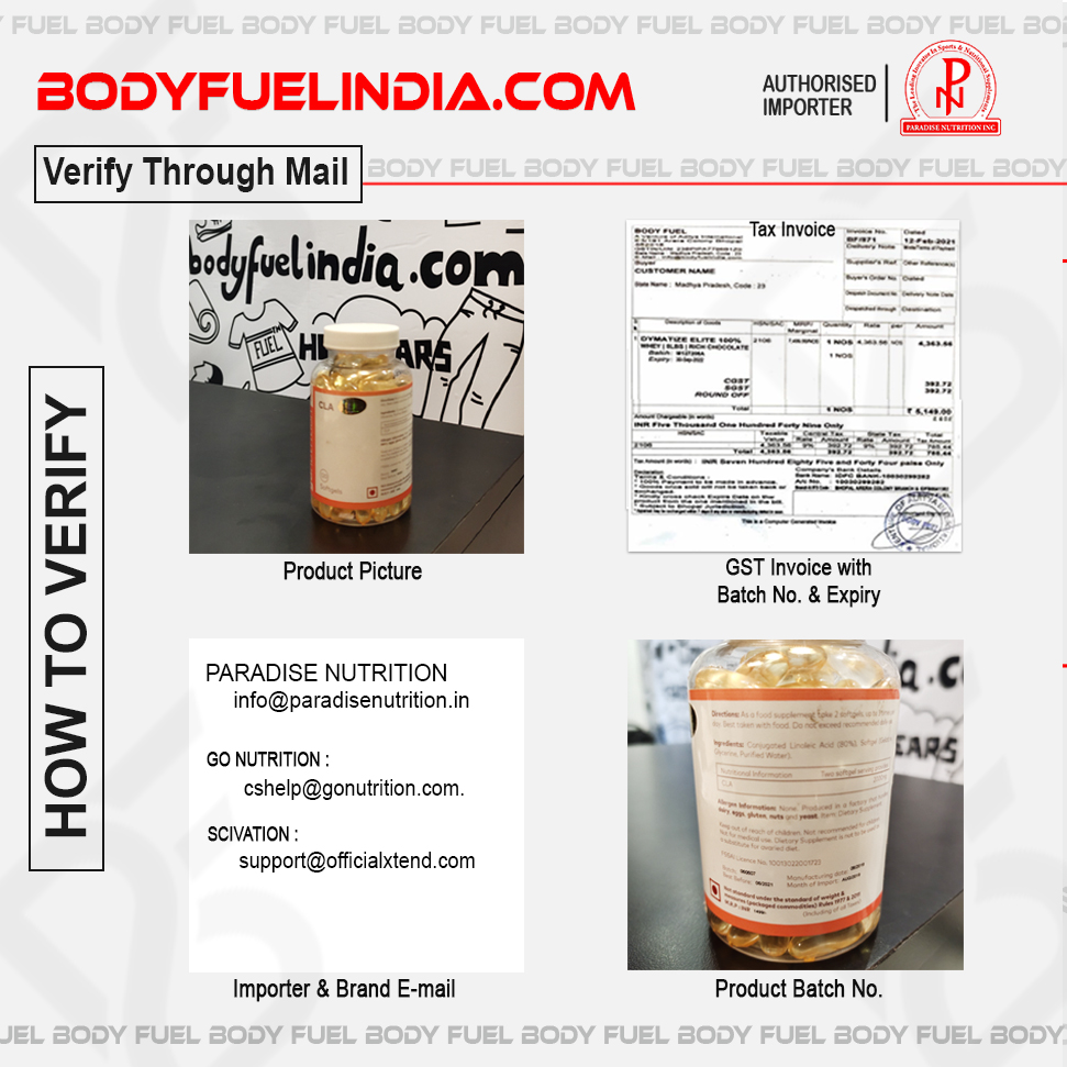 How To Verify Supplements, Paradise Nutrition, Authorized Importer, Body Fuel India's No.1 Genuine Supplement Store