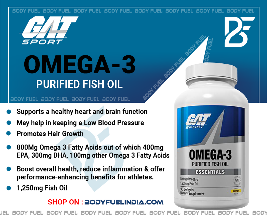 Gat Omega 3, Vitamins & Supplements, Body Fuel Body Fuel India's no.1 Authentic Online Supplement Store.