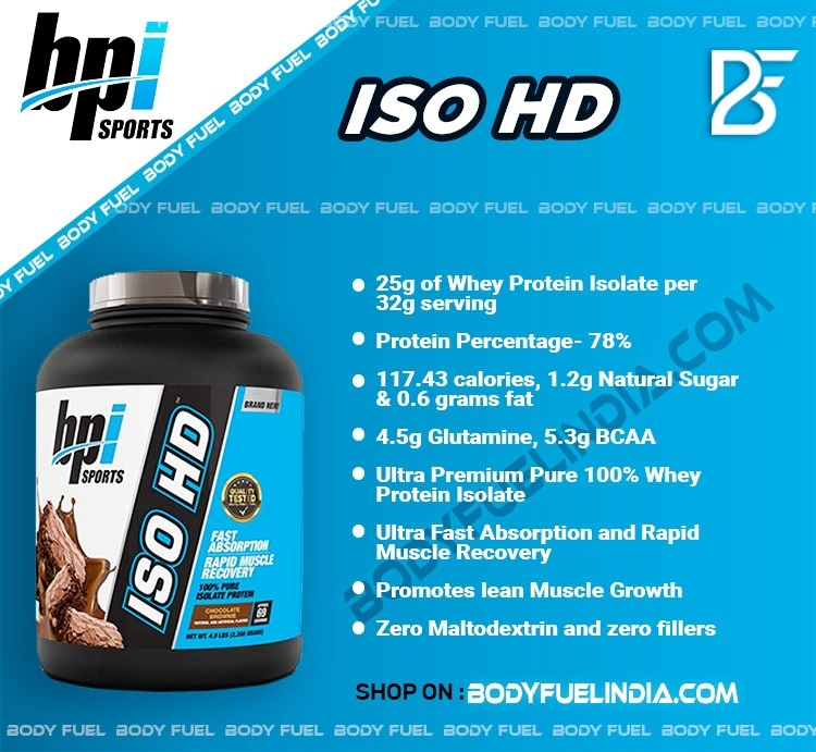 BPI Sports ISO HD, Whey Protein Isolate, Body Fuel India