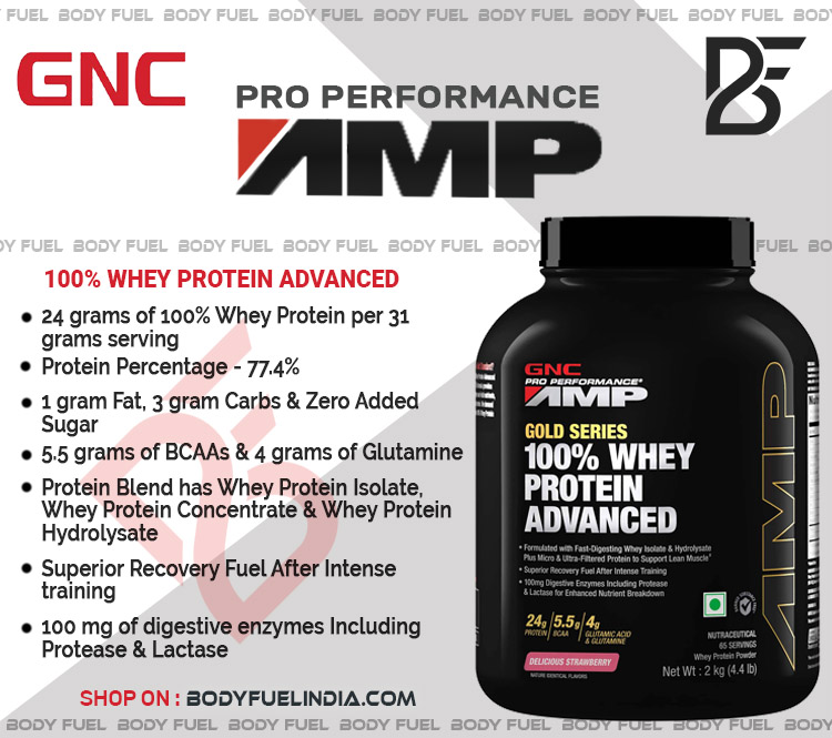 GNC AMP Gold Series Whey Protein, Whey Protein, Body Fuel, Body Fuel India's no.1 Authentic Online Supplement Store
