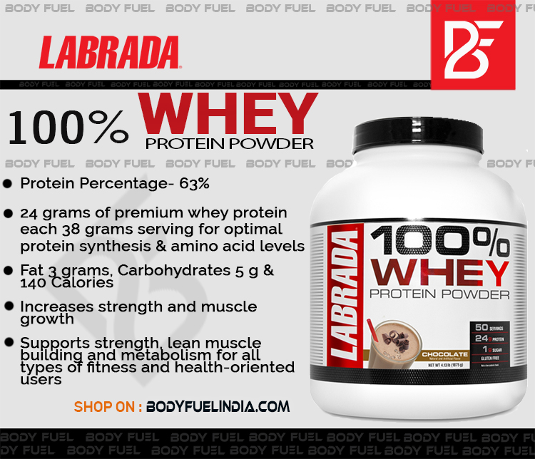 Labrada 100% Whey Protein, Whey Protein, Body Fuel India's no.1 Authentic Online Supplement Store.