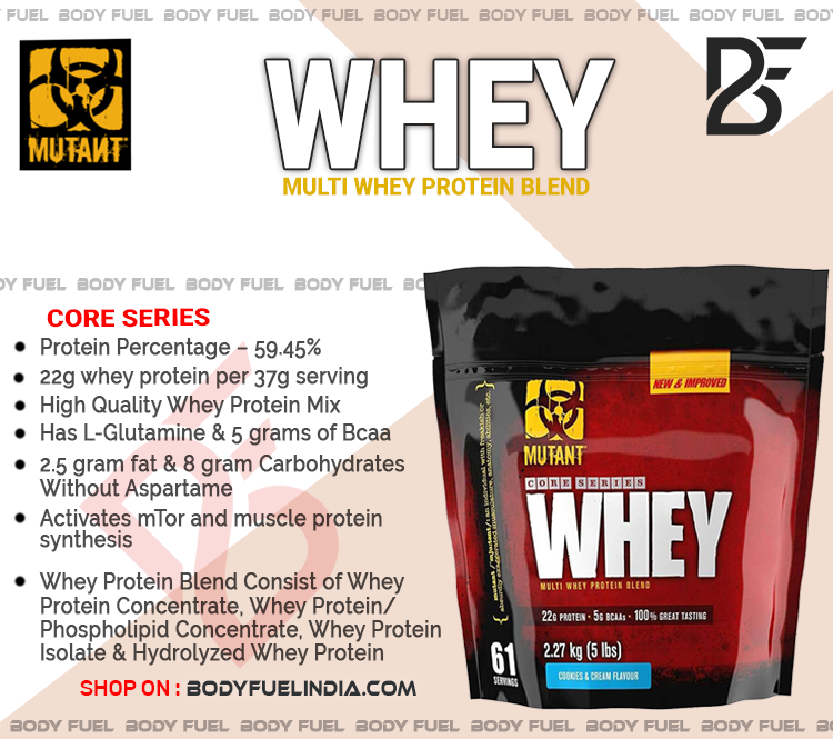 Mutant Whey Protein, Body Fuel India's no.1 Authentic Online Supplement Store