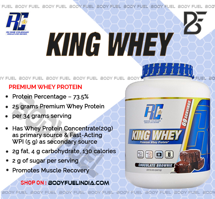 Ronnie Coleman King Whey, Whey Protein, Body Fuel, Body Fuel India's no.1 Authentic Online Supplement Store