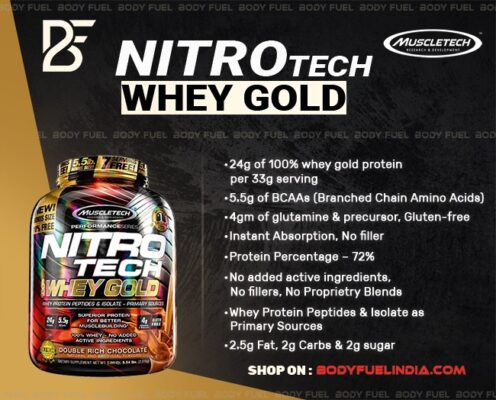 MuscleTech NitroTech 100% Whey Gold, Whey Protein, Body Fuel - India's No.1 Genuine Supplement Store