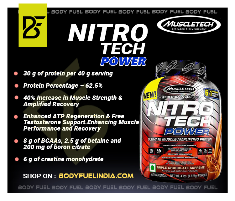 MuscleTech Nitrotech, Whey Protein, Body Fuel India no.1 Authentic Online Supplement Store