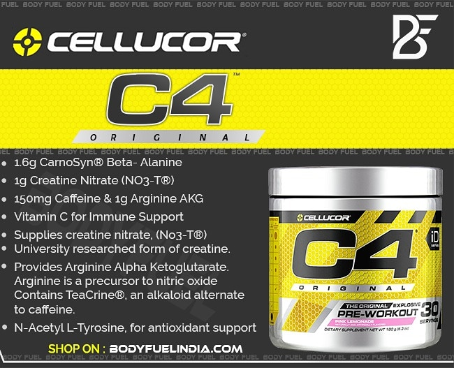 Cellucor C4 Original Preworkout, Pre-workout, Body Fuel India's no.1 Genuine Supplement Store
