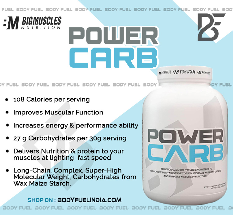 Big Muscles Power Carb, Casein & Blended  Proteins, Body Fuel India, No.1 Online Supplement Store
