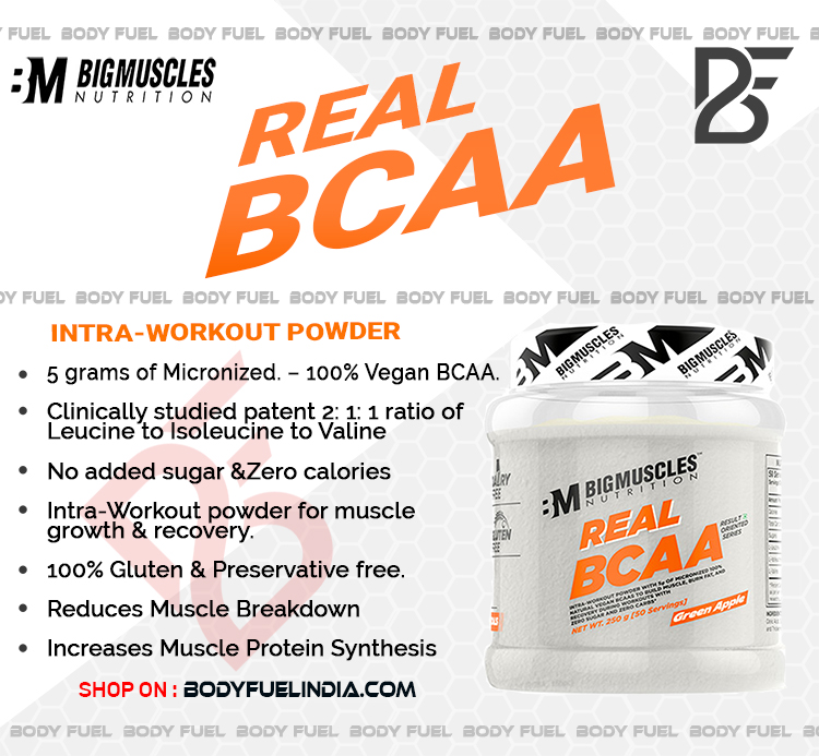Big Muscles Real BCAA, Ergogenics, Body Fuel India's No.1 Genuine Supplement Store