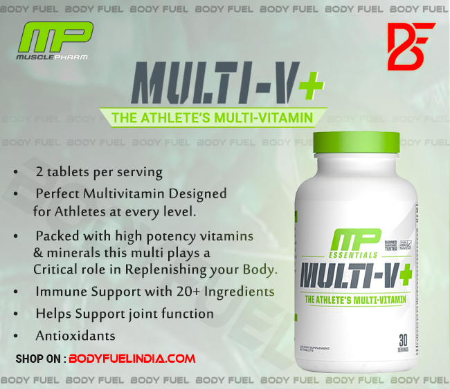 MusclePharm Essential Multi-V+, Body Fuel India's No.1 Genuine Supplement Store
