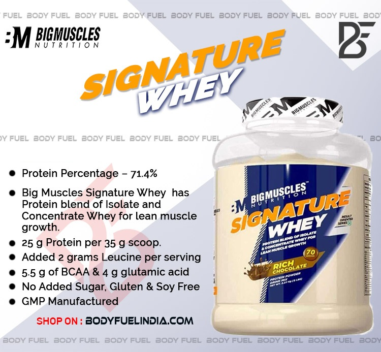 Big Muscles Signature Whey, Whey Protein, Body Fuel India's No.1 Genuine Supplement Store