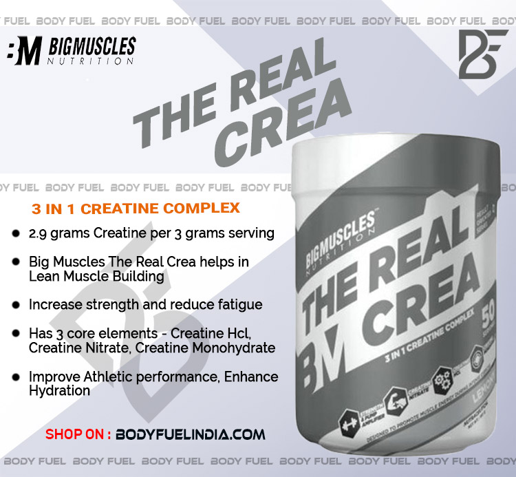 Big Muscles The Real Crea, Ergogenics, Body Fuel India's no.1 Genuine Supplement Store