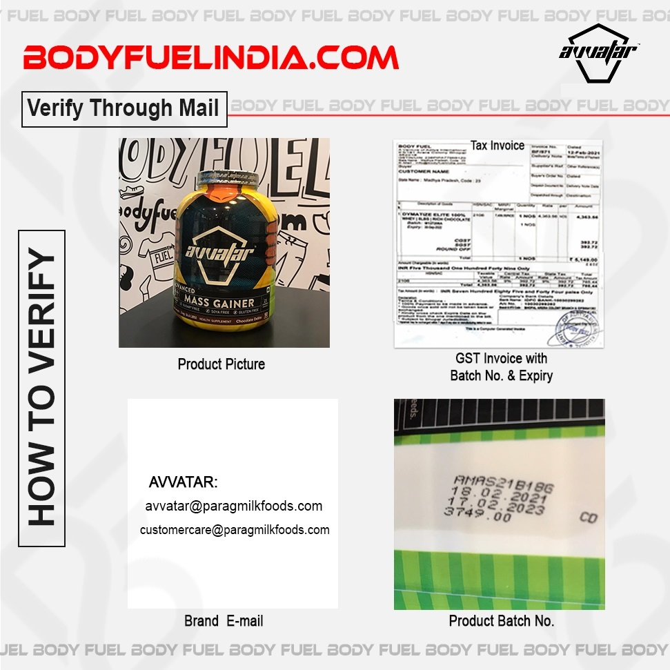 How To Verify Avvatar Supplements, Body Fuel India's No.1 Genuine Supplement Store
