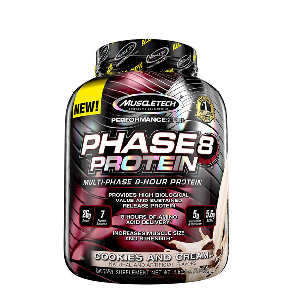 MuscleTech Phase 8 Protein, Casein & Blended Protein, Body Fuel India's no.1 Authentic Online Supplement Store