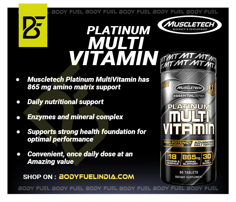 Muscletech Platinum MultiVitamin,Vitamins & Supplements, Body Fuel India no.1 Authentic Online Supplement Store