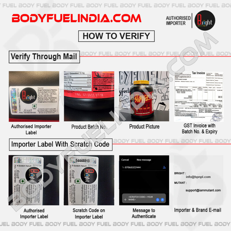 How To Verify Supplements, Bright Commodities, Authorized Importer, Body Fuel India's No.1 Genuine Supplement Store