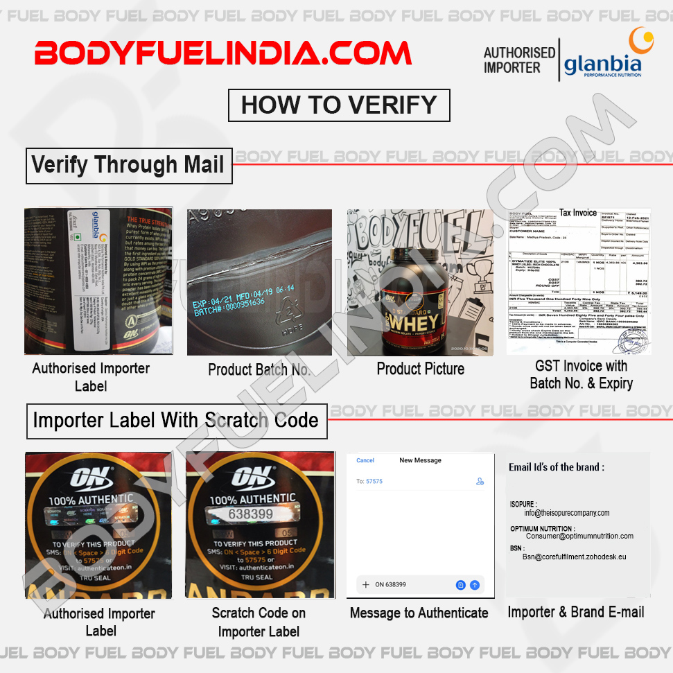 How To Verify Supplements, Glanbia, Authorized Importer, Body Fuel India's No.1 Genuine Supplement Store