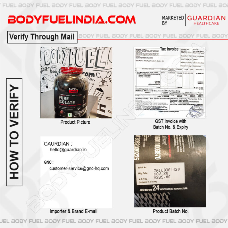 How To Verify Supplements, Guardian Health Care, Body Fuel India's No.1 Genuine Supplement Store