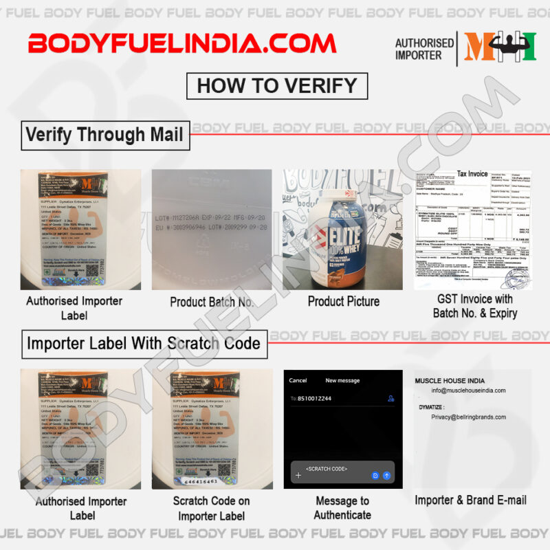How To Verify Supplements, Muscle House India, Authorized Importer, Body Fuel India's No.1 Genuine Supplement Store