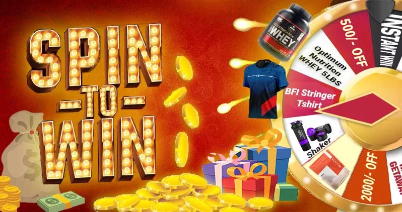 Spin to Win, Body Fuel India's No.1 Genuine Supplement Store.