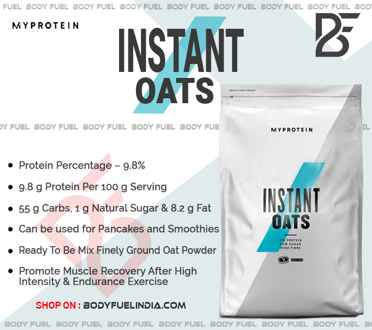 Myprotein Instant Oats, Health Food & Drinks, Body Fuel India's no.1 Authentic Online Supplement Store