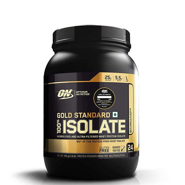 Optimum Nutrition Gold Standard 100% Isolate Protein, Whey Protein Isolate, Body Fuel, India's No.1 Original Supplement Store