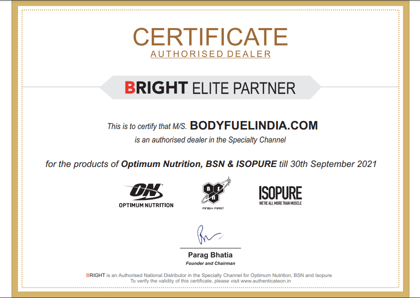 Bright Performance Nutrition, Authorized Importer, Body Fuel India's no.1 Genuine Online Supplement Store