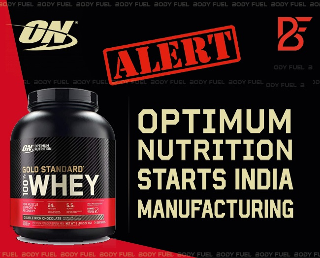 Optimum Nutrition Whey Protein India manufacturing